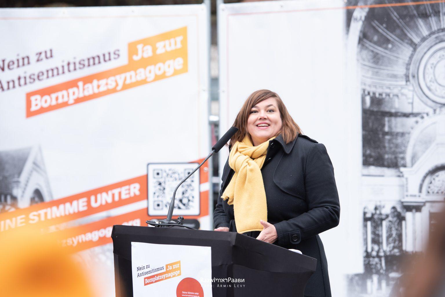 Ja zur Bornplatzsynagoge Katharina Fegebank