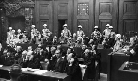 """Die Hauptangeklagten im """"Nürnberger Hauptkriegsverbrecherprozess"""